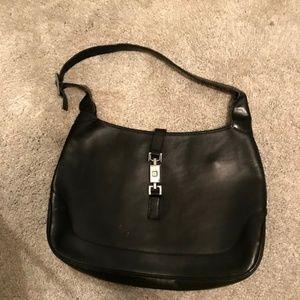 Authentic Gucci Jackie Handbag Black Leather